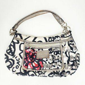 Coach Poppy Floral Graffiti Hand bag 14734